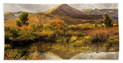 Mill Canyon Peak Reflections Bath Towel