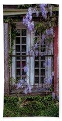 Mill Window Framed By Wisteria  Hand Towel