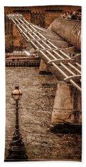 London, England - Millennium Bridge Hand Towel