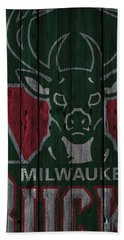 Milwaukee Bucks Wood Fence Bath Towel