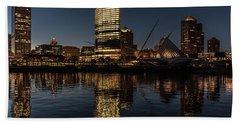 Milwaukee Reflections Hand Towel by Randy Scherkenbach
