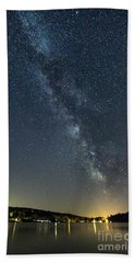 Milky Way From A Pontoon Boat Bath Towel