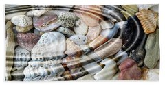 Bath Towel featuring the digital art Minerals And Shells by Michal Boubin