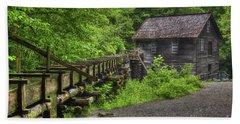 Bath Towel featuring the photograph Mingus Mill 2 Mingus Creek Great Smoky Mountains Art by Reid Callaway