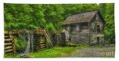 Bath Towel featuring the photograph Mingus Mill 3 Mingus Creek Great Smoky Mountains Art by Reid Callaway