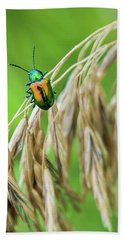 Bath Towel featuring the photograph Mini Metallic Magnificence  by Bill Pevlor