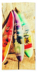 Miniature Surfboard Decorations Bath Towel