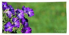 Bath Towel featuring the photograph Minimal Petunias by Barbara S Nickerson