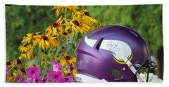 Minnesota Vikings Helmet Hand Towel by Kyle West