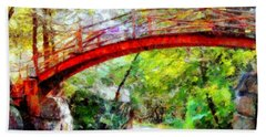 Minnewaska Wooden Bridge Bath Towel