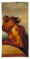Minotaur Hand Towel by George Frederic