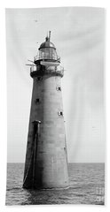 Bath Towel featuring the photograph Minot's Ledge Lighthouse, Boston, Mass Vintage by Vintage