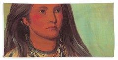 Mint A Mandan Girl 1832 Hand Towel