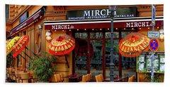 Mirchi Singapore Restaurant Bath Towel by Anthony Dezenzio