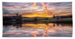 Mirror Lake Sunset Bath Towel