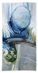 Bath Towel featuring the painting Mirror Mirror by Rene Capone