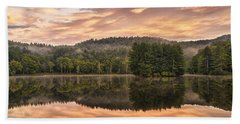 Bass Lake Sunrise - Moses Cone Blue Ridge Parkway Hand Towel