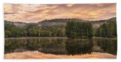 Bass Lake Sunrise - Moses Cone Blue Ridge Parkway Bath Towel