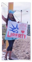 Miss Liberty Hand Towel