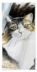 Miss Lucy - Cat Portrait Bath Towel