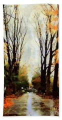 Missing You - Rainy Day Park Hand Towel