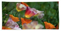 Mission Bell Poppies Bath Towel