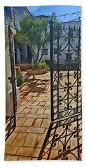 Mission Courtyard Bath Towel by Karyn Robinson