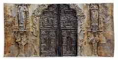 Mission San Jose Church Entrance Hand Towel by Joey Agbayani