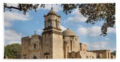 Bath Towel featuring the photograph Mission San Jose by Mary Jo Allen
