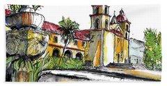 Mission Santa Barbara Hand Towel by Terry Banderas