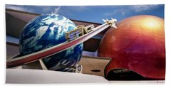 Bath Towel featuring the photograph Mission Space by Eduard Moldoveanu