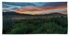 Mission Trails Poppy Sunset Bath Towel