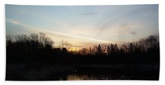Hand Towel featuring the photograph Mississippi River Colorful Dawn Clouds by Kent Lorentzen
