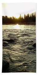 Hand Towel featuring the photograph Mississippi River Dawn Reflection by Kent Lorentzen