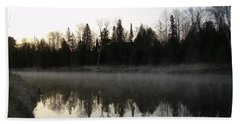 Hand Towel featuring the photograph Mississippi River Fog Reflection by Kent Lorentzen