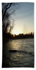 Hand Towel featuring the photograph Mississippi River Sunrise Shadow by Kent Lorentzen