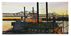 Mississippi Riverboat Sunset Bath Towel