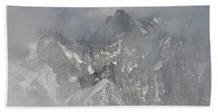 Mist At Aiguille Du Midi Bath Towel