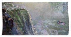 Mist At Horseshoe Falls  Hand Towel