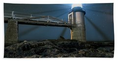 Mist At Marshall Point Light Hand Towel