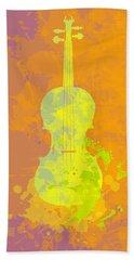 Hand Towel featuring the digital art Mist Violin by Alberto RuiZ