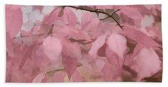 Misty Autumn Leaves Hand Towel by Judy Palkimas