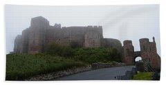 Misty Bamburgh Castle Hand Towel