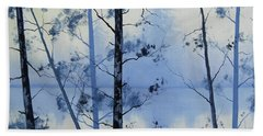 Misty Blue Lake Hand Towel
