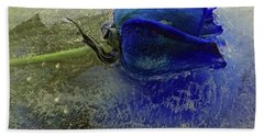 Misty Blue Hand Towel by Terry Foster