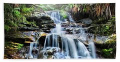 Hand Towel featuring the photograph Misty Falls by Az Jackson