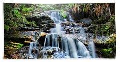 Misty Falls Bath Towel by Az Jackson