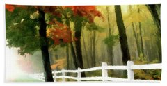 Hand Towel featuring the painting Misty In The Dell P D P by David Dehner