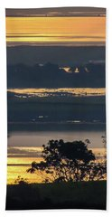 Hand Towel featuring the photograph Misty Irish Morning On The Shannon by James Truett