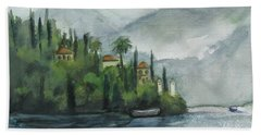 Misty Island Hand Towel by Laurie Morgan
